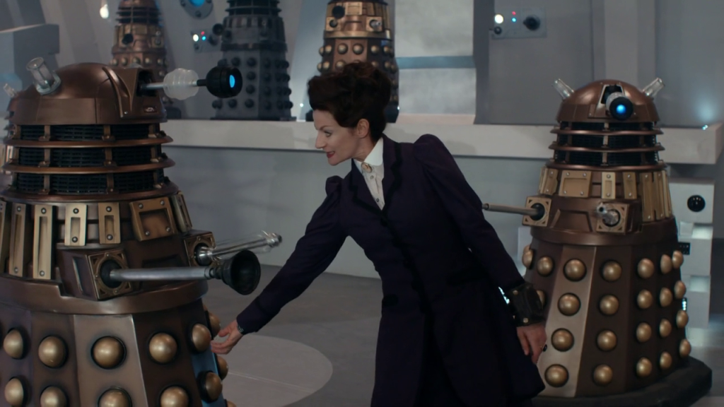 Missy fondling a Dalek's balls in Doctor Who The Magician's Apprentice